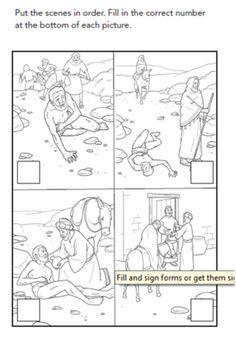 Parable of the Good Samaritan - NSUMC Children Faith Formation Godly Play, Good Samaritan, Bible Lessons For Kids, Sunday School Crafts, Help Teaching, Faith, Good Things, Activities, Children