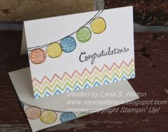 Stampin' with Nanna: Watercolor Wonder Designer Note Cards, Part 1