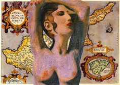 Aphrodite And Ancient Cyprus Map  Augusta Stylianou