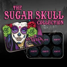 The Sugar Skull Collection! Includes 6 Mineral Eyeshadows in Sweet Catrina, Altar of Roses, ¡Viva los Muertos!, Los Angelitos, Saint and Calavera. 100% Vegan and Cruelty-Free! Made in the U.S.A. All products always exclude scary preservatives like parabens and cheap fillers like talc and bismuth oxychloride!