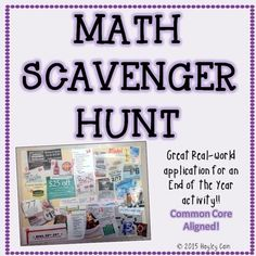 This is great for an end of the year activity! Students can work alone or in groups to complete. Students use real world newspapers, magazines, or pictures in order to find where math is used in real life. They will have to create a collage of their pictures.