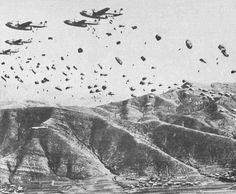 "The 187 Airborne Cutting off Retreating Communist Forces in Korea  These ""MEN"" Were Jumping C119's ; T-7 Parachutes; And A Full Combat Load.  A Combination That Would Guarantee The Worst Possible Opening Shock;  One that Would ""Spread Your Legs ""  C-46's ; C47's ; and C82's were also used in the jump."