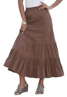 Roamans Women's Plus Size Provencial Denim Skirt (Coffee,18 W) Roamans,http://www.amazon.com/dp/B00B5IA3OE/ref=cm_sw_r_pi_dp_L5k4sb12EFAS0ZZ4