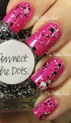 Essie ~  Tour De Finance + Lynnderella ~ Connect The Dots on top (2 coats)