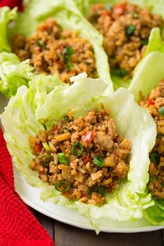 Slow Cooker Asian Chicken Lettuce Wraps — just use gluten free ingredients