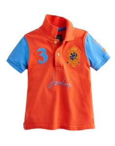 Joules Boys' Polo Shirt, Bright Red.