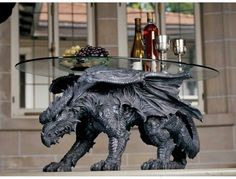 Dragon table--This is epic and would look awesome in my custom built home of awesomeness.