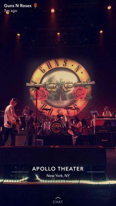GUNS N ROSES APOLLO THEATER  2017 #30yearsAFD Guns N Roses, Appetite For Destruction, Velvet Revolver, Apollo Theater, Axl Rose, 80s Music, Living Legends, My Bible, Classic Rock