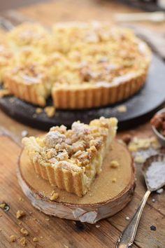 Apfel Streusel Kuchen - Apple Crumble Cake   Das Knusperstübchen