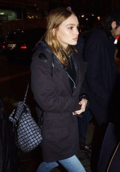 Lily Rose Depp Winter clothes :):):):):)