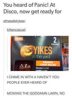 This is so funny to me since I listen to PATD!