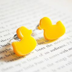 Hey, I found this really awesome Etsy listing at https://www.etsy.com/listing/87113347/rubber-duck-earrings-yellow-nickel-free