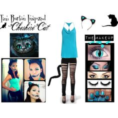 """Tim Burton Inspired Cheshire Cat Costume"" by karla-cristina on Polyvore"