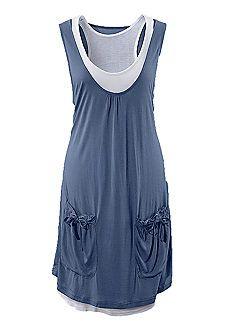 Beachtime Blue Layered 2 in 1 Beach Dress