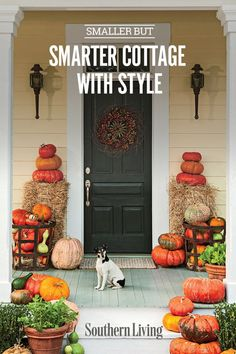 Smaller But Smarter Cottage With Style | Why not embrace living in a manageable cottage style where you will look forward to tending your garden and decorating your home instead of fighting feelings of being overwhelmed by a larger home. Check out some of these small cottages and you just may be looking to downsize soon. #decorideas #homedecor #southernliving