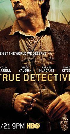 """True Detective. """"We get the world we deserve"""".  Cuando finalmente me caí del burro y decidí ver la primera me gustó mucho (aunque no el final) y esta también ha sido interesante y al nivel de la anterior. Lo que más me gustan son los títulos del comienzo, la estética, la música.  #TrueDetective #seriesfavoritas"""