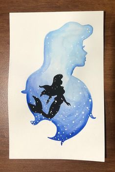 Princess watercolor silhouette — Ariel Excited to share this item from my shop: Princess watercolor silhouette — Ariel Princess watercolor silhouette — Ariel Excited to share this item from my shop: Princess watercolor silhouette — Ariel Ariel Disney, Ariel Ariel, Cute Disney Drawings, Cool Art Drawings, Drawing Disney, Watercolor Disney, Watercolor Paintings, Simple Watercolor, Painting Abstract
