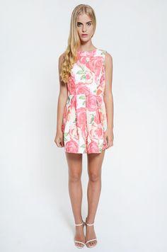 Dresses : Nova Low Back Dress - Pink Floral