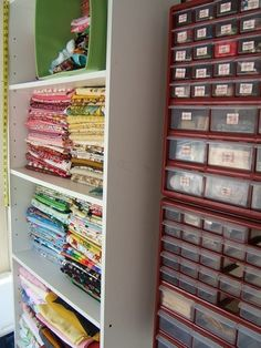Floor to ceiling bead organization!!!  I would be able to find the bead I needed!