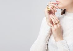 I'm seriously digging Mirlo's simple yet edgy collection of bracelets, rings and necklaces. But what I'm really lusting for are the interchangeable fine gold rings, most of which can be stacked and interlocked to create a bevy of stunning combinations. Love! And need.