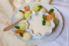 Wos zum Essn: Melonen-Creme - Was zum Naschen für das White Dinner