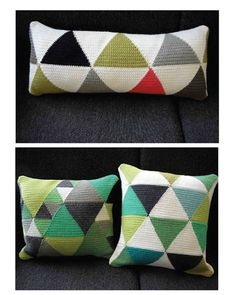 Geometric crochet http://www.diaryofacreativefanatic.com/2012/10/crochet-crochetpatterns.html#more