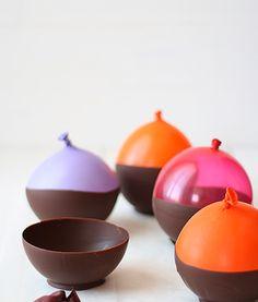 Cuencos de chocolate ¿cómo se hacen? cocina con niños