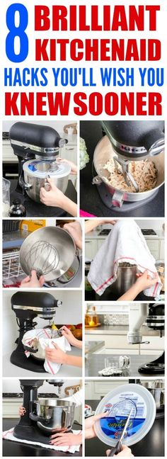 These 8 Brilliant KitchenAid hacks are THE BEST! I'm so HAPPY I found these GREAT tips and tricks! Now I can save time with my cooking and even during the holidays! Definitely pinning!