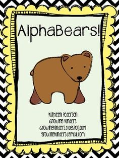 Alphabears {FREEBIE} - Letter identification activities complete with songs and letter cards, etc. So cute!!