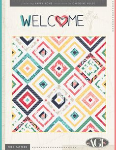 Welcome Free Quilt Pattern Download lots of free quilt patters by AGF