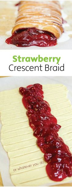Looking for a messy and decadent dessert? Whip up this strawberry crescent bread in a snap.