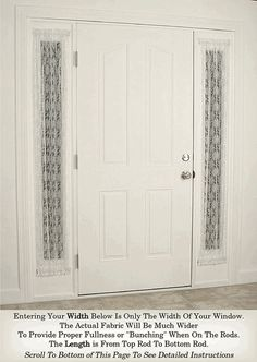 Custom Made Sidelight Curtains And French Door In Dozens Of Colors Curtain Rods Included With Each Order