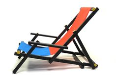 With a canvas sling seat, it's certainly more comfortable than the all-wood original. Bauhaus, Cool Furniture, Furniture Design, Outdoor Furniture, Outdoor Chairs, Outdoor Decor, Take A Seat, Beach Chairs, Cool Chairs