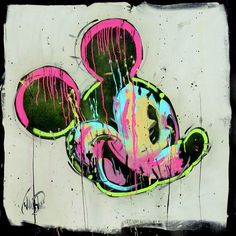 'Mickey and Hue' An Original Acrylic painting on Boxed Canvas by artist David Garibaldi, depicting Disney's iconic Mickey Mouse.  Available at Wyecliffe: http://wyecliffe.com/collections/disney-boutique-art/products/mickey-and-hue-david-garibaldi