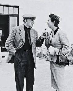 Bernier with Fernand Léger, 1954. Photographer: Robert Doisneau. Rosamond Bernier Talks Art - ELLE DECOR.