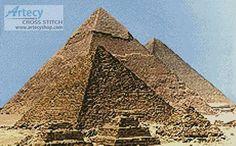 Pyramids  - cross stitch pattern designed by Tereena Clarke. Category: Architecture.
