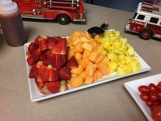 Fruit Platter Fire Truck party