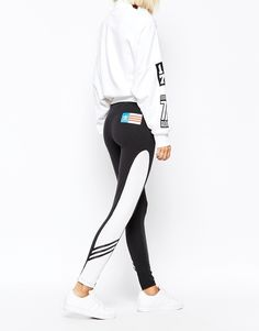 Adidas Rita Ora Leggings With Contrast Panel. We love this athletic look.