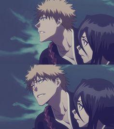Look at how Ichigo looks at Rukia~~ #ichiruki #bleach