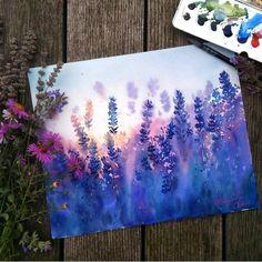 Ideas Anime Art Watercolor Paintings For 2019 Art Inspo, Painting Inspiration, Art Watercolor, Watercolor Flowers, Acrylic Flowers, Simple Watercolor Paintings, Art Diy, Guache, Diy Artwork