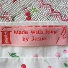 custom sewing labels for handmade items