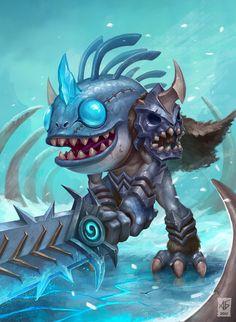 DK murlock by Monster Concept Art, Alien Concept Art, Fantasy Monster, World Of Warcraft 3, Warcraft Art, Fantasy Kunst, Fantasy Art, Goblin Art, Character Art