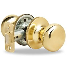 Yale 100H Horizon Passage Door Knob Set from the New Traditions Collection Polished Brass Knobset Passage