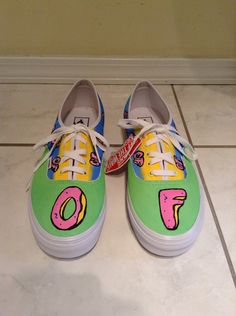 Odd Future Shoes  by PrettyOddArt on Etsy, $50.00