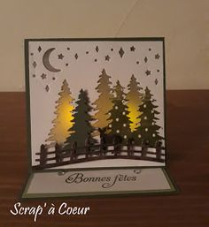 Christmas Cards 2017, Christmas Tea, Xmas Cards, Handmade Christmas, Holiday Cards, 3d Cards, Easel Cards, Licht Box, Fancy Fold Cards