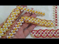 Trama de Pérolas Celeste | SIMPLIFICADA | Cícero Alencar - YouTube Handmade Bracelets, Beaded Bracelets, Beaded Crafts, Flip Flops, Projects To Try, Beads, Jewelry, Youtube, Decoration