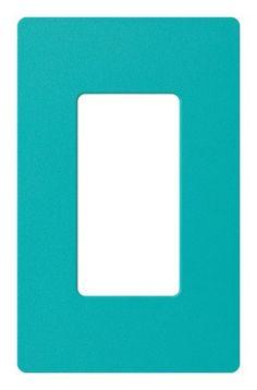 Lutron SC-1-TQ Claro Single-gang Wallplate Turquoise Lutron