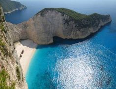 Navagio Beach, or the Shipwreck, is an isolated sandy cove on Zakynthos   island