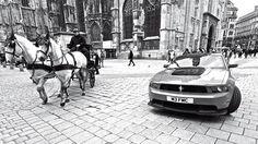 Ford Mustang Boss 302 in Wien http://www.autorevue.at/best_of_test/modellvorstellung/ford-mustang-boss-302-phil-waldeck-helmut-gansterer.html