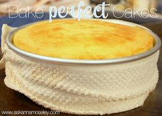 How to Bake Perfect Cakes (Baking Level Cakes) - Ask Anna...hummm....I wonder what would happen if I froze the pan instead....hummmm